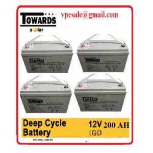 Bateria de gelatina cinclo profundo libre de mantenimientos
