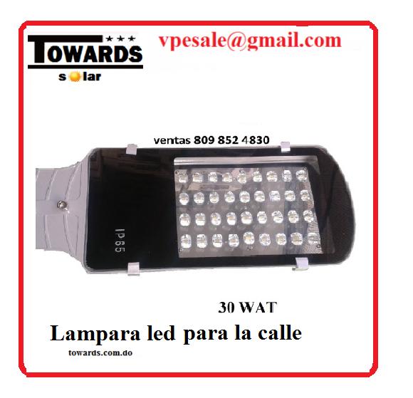 Lámpara LED tipo cobra para calle 30W