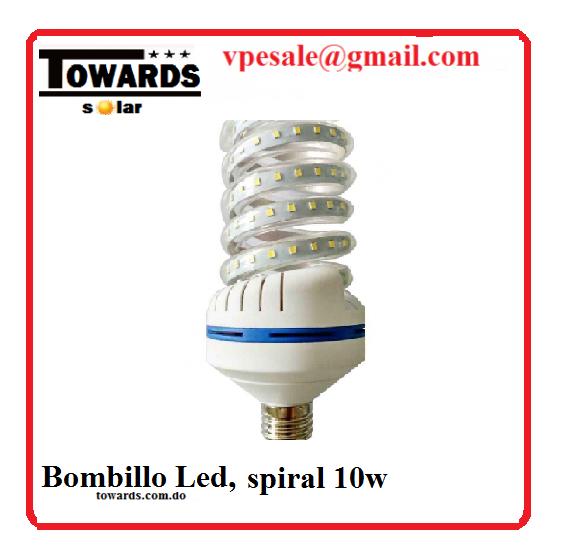 bombillo led spiral