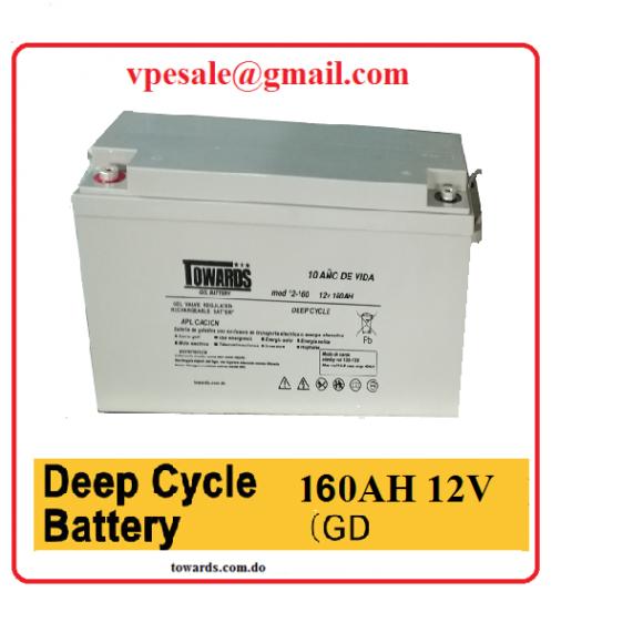 Bateria de gelatina 12v 150amp para uso de energia solar