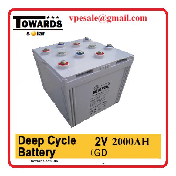 bateria gelatina 2000amp 2v