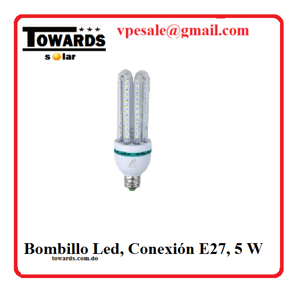 Bombillo Led, Conexión E27, 5 W